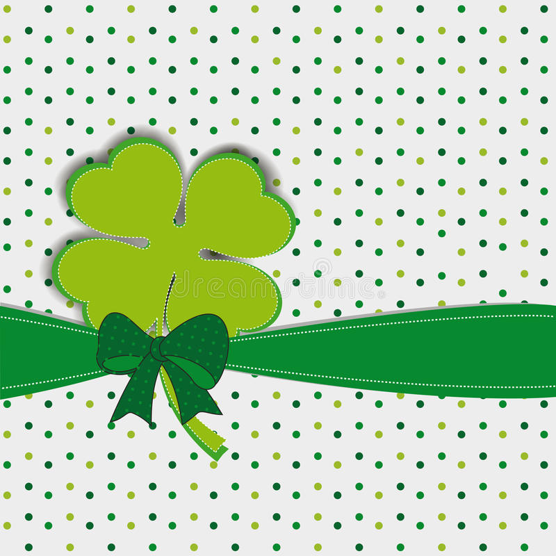 Download Simple Modern Card With Four-leaf Clover Stock Illustration - Image: 28673410