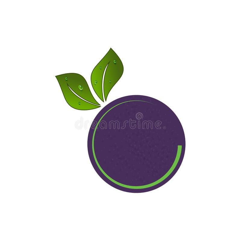 Creative vector fruit logo design illustration simple minimal royalty free illustration