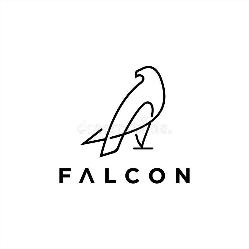 Free Simple Modern Line Art Black Falcon Logo Design Idea Stock Images - 164322734