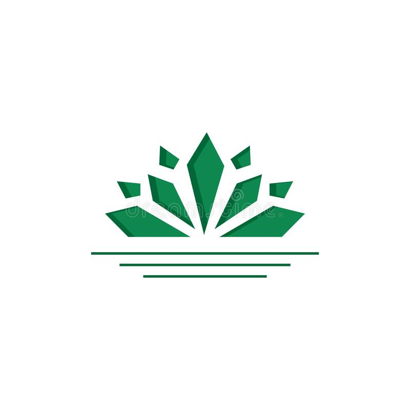 simple modern lotus flower logo vector template design illustration royalty free illustration