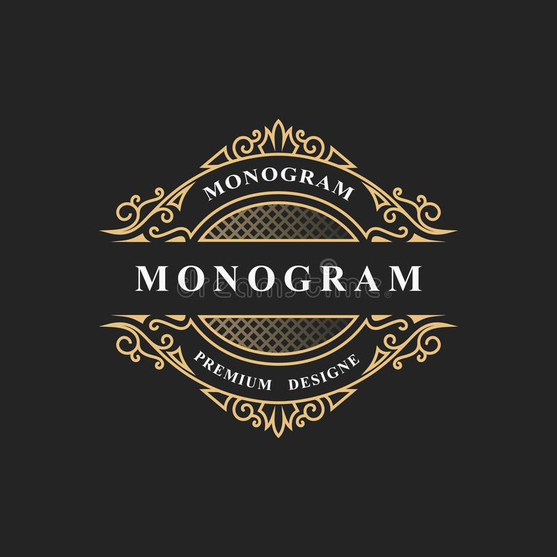 Simple monogram design. Luxury volumetric logo template. 3d line ornament. Elegant frame for Business sign, badge, crest, label, B vector illustration