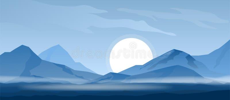 Simple mountain background stock vector. Illustration of mountain - 95338114