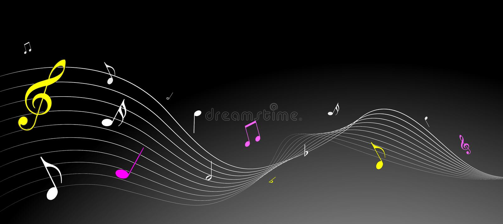 Simple music notes. High quality simple music notes in illustration stock illustration