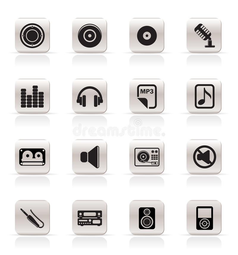 Simple Music and sound Icons