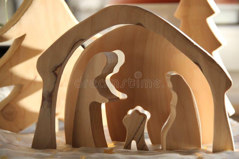 Simple Nativity Scene stock photography