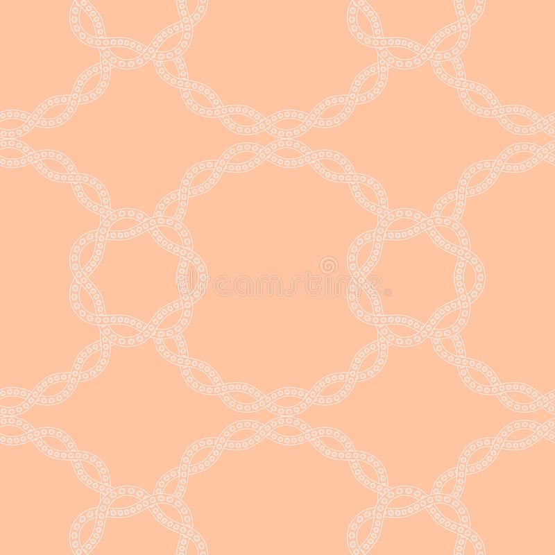 Simple neutral seamless pattern with floral lace, chain royalty free illustration