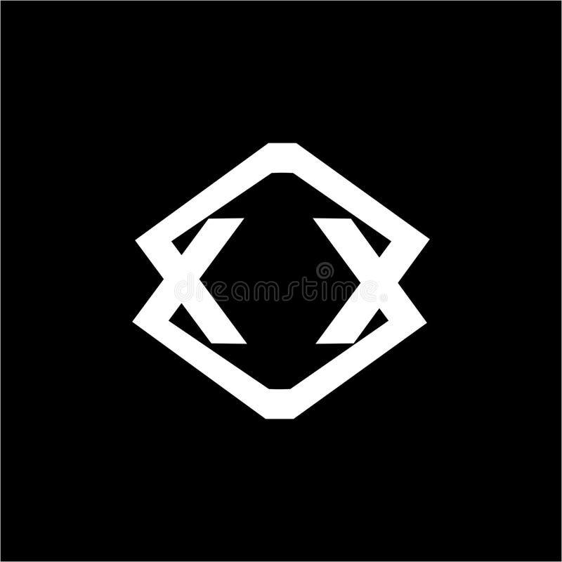 Simple NU, NN, NV, VN, UN initials geometric company logo stock illustration