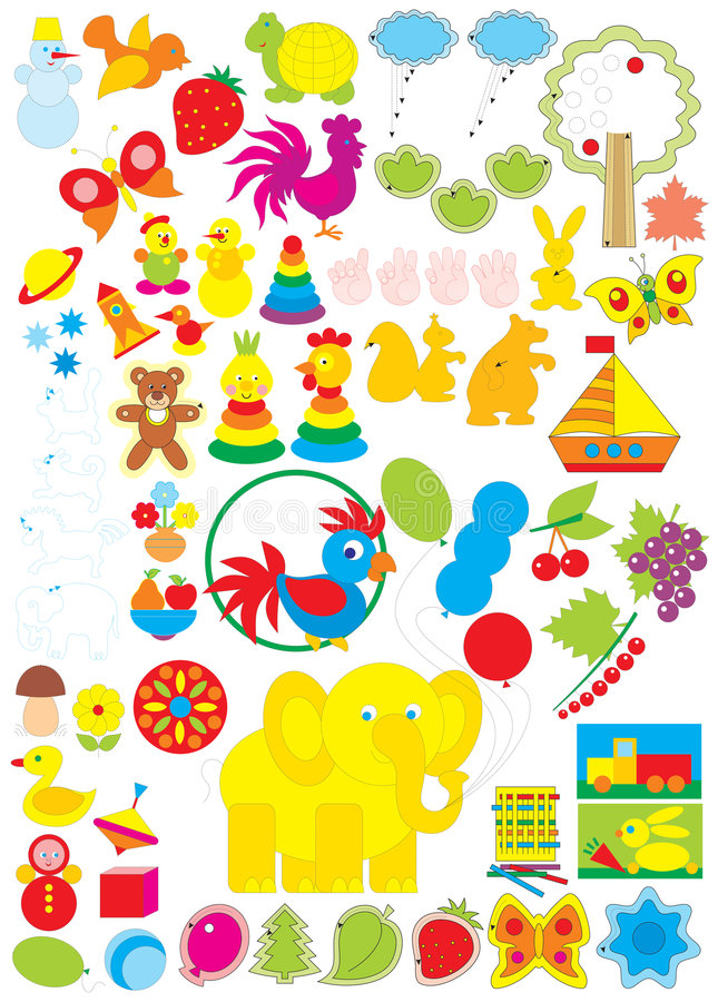Download Simple Objects For Kindergarten Stock Photo - Image: 6453400