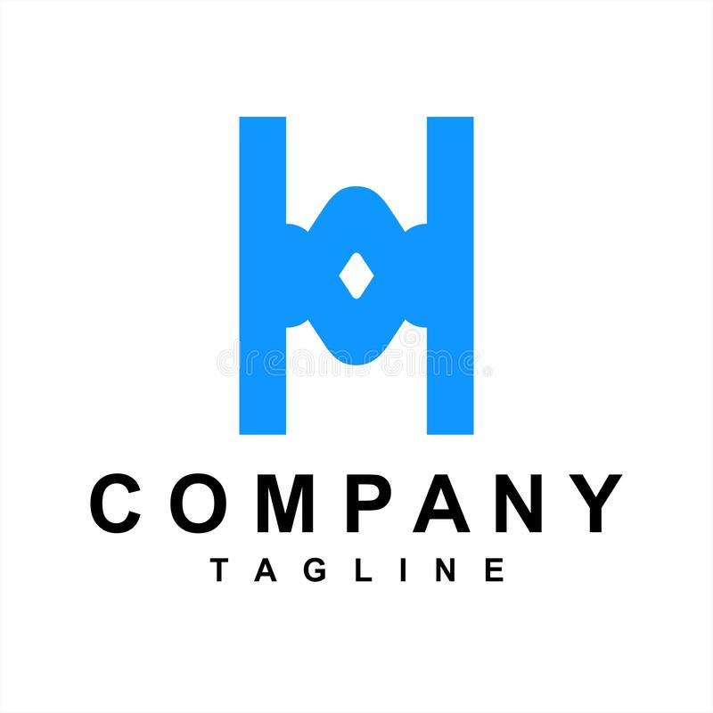 Simple OH, HO initials letter company logo vector illustration
