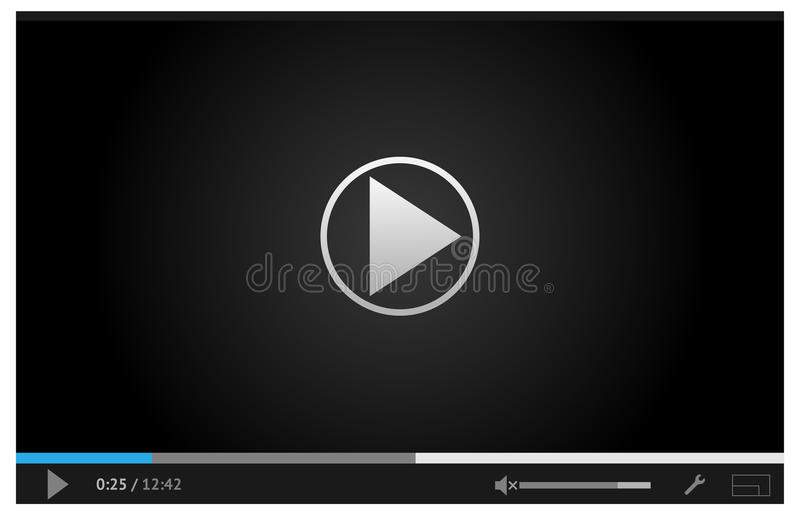 Download Simple Online Video Player For Web In Dark Colors Royalty Free Stock Photos - Image: 34591468