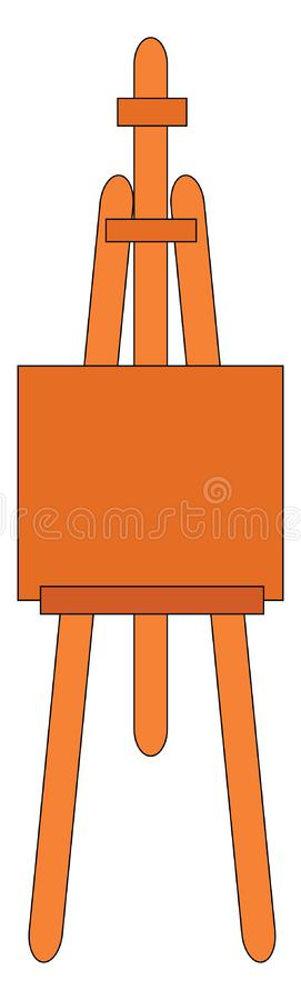 Free Simple Orange Easel Vector Illustration Royalty Free Stock Photography - 160150407