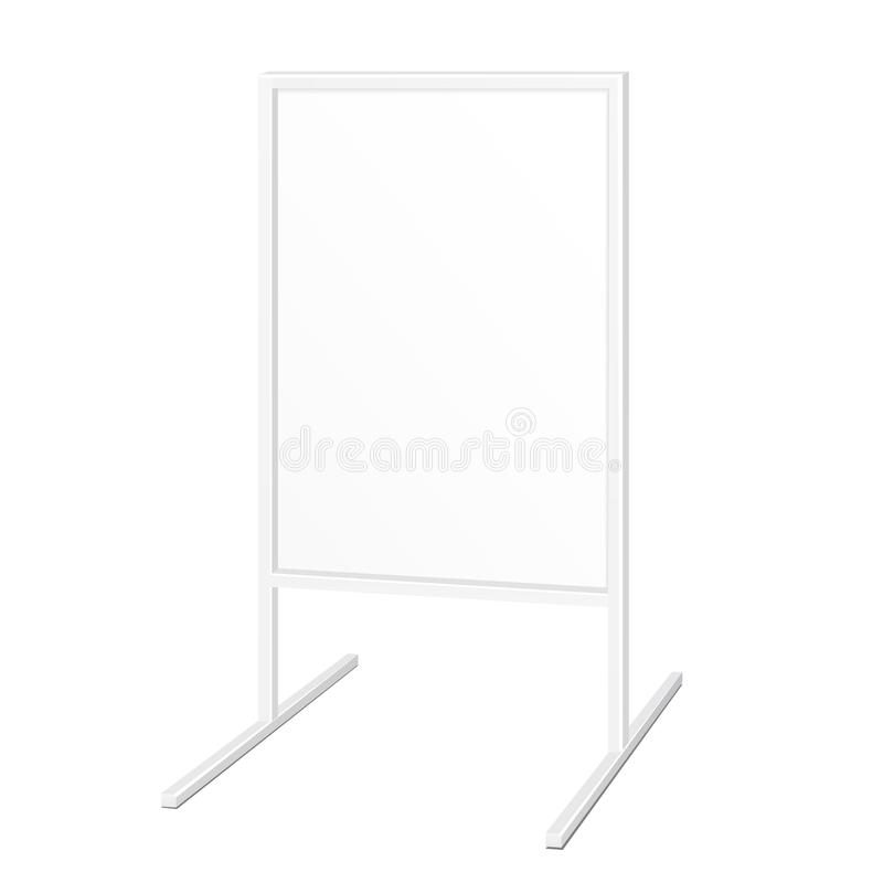 Simple Outdoor Indoor Stander Advertising Stand Banner Shield Display, Advertising. Illustration Isolated. vector illustration