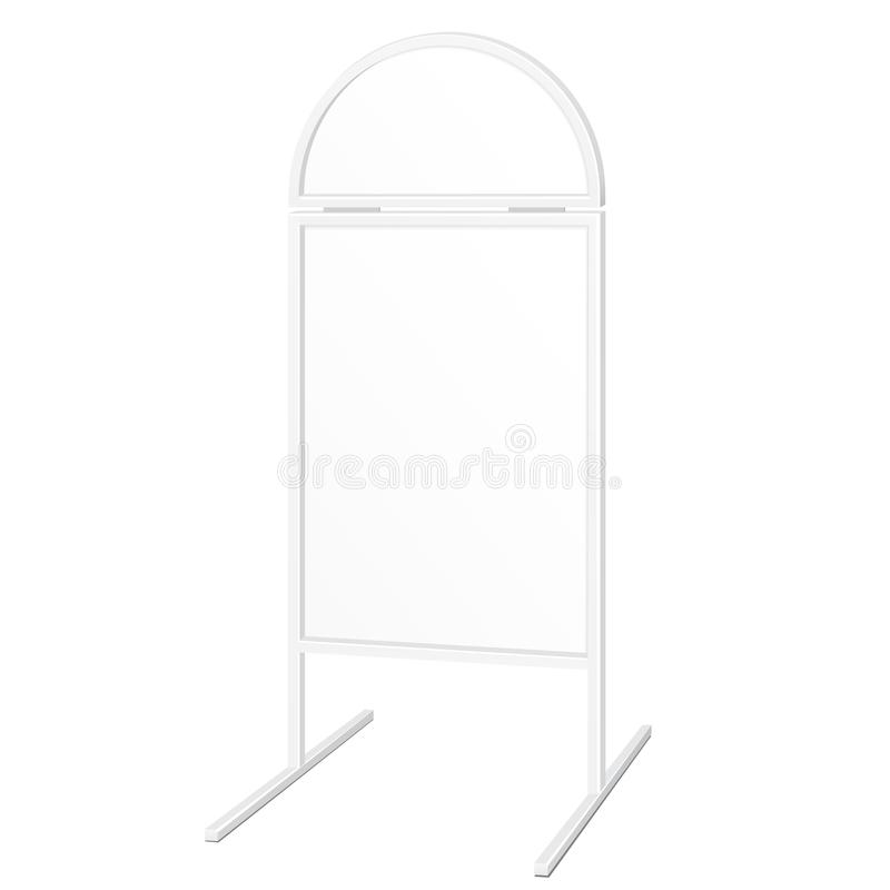 Simple Outdoor Indoor Stander Advertising Stand Banner Shield Display, Advertising. Illustration Isolated. stock illustration