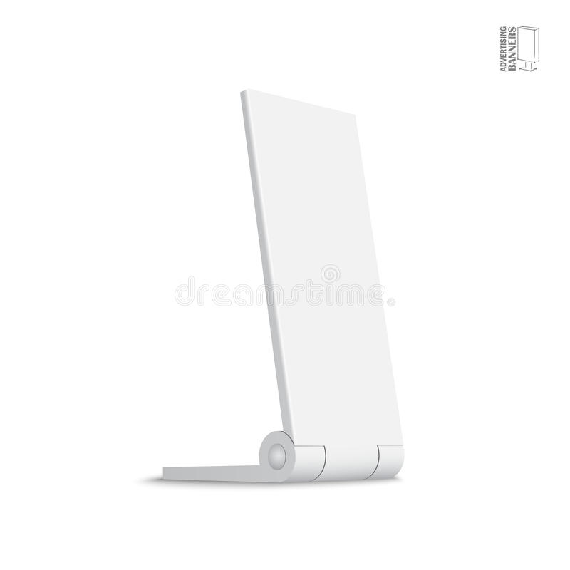 Simple outdoor indoor stander advertising stand banner royalty free illustration