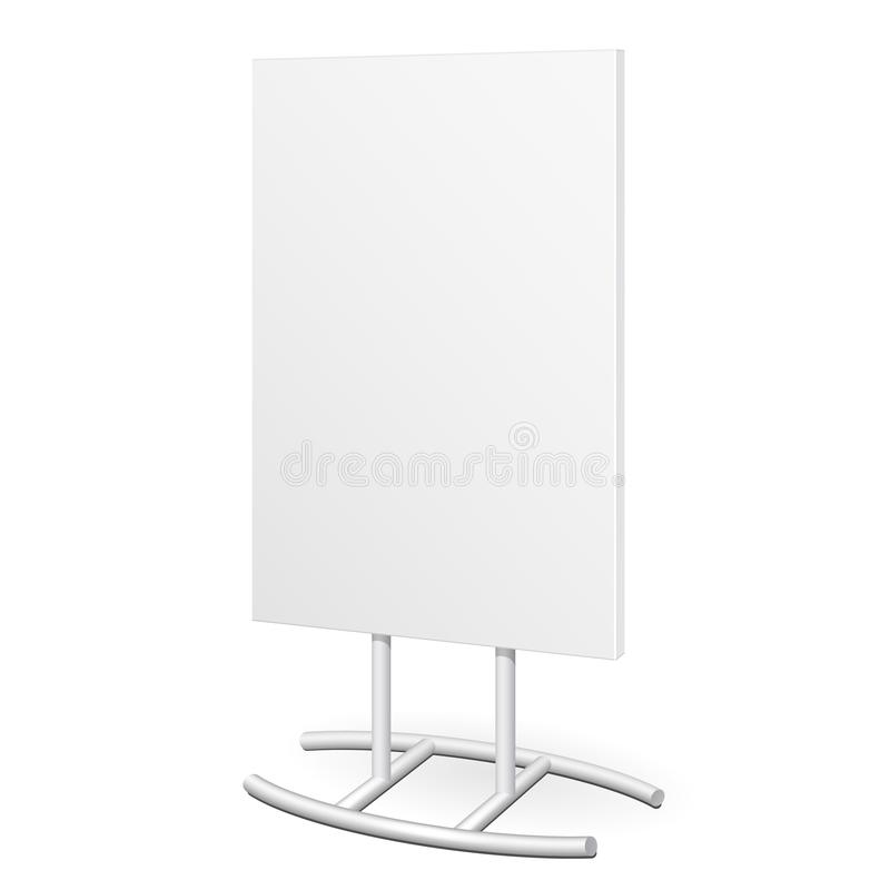 Simple Outdoor Indoor Stander Advertising Stand Banner Shield Display, Advertising. Mock Up Products. royalty free illustration