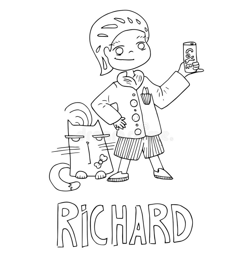 create coloring pages names anna   The Simple Outline Drawing For Coloring With The Image Of ...