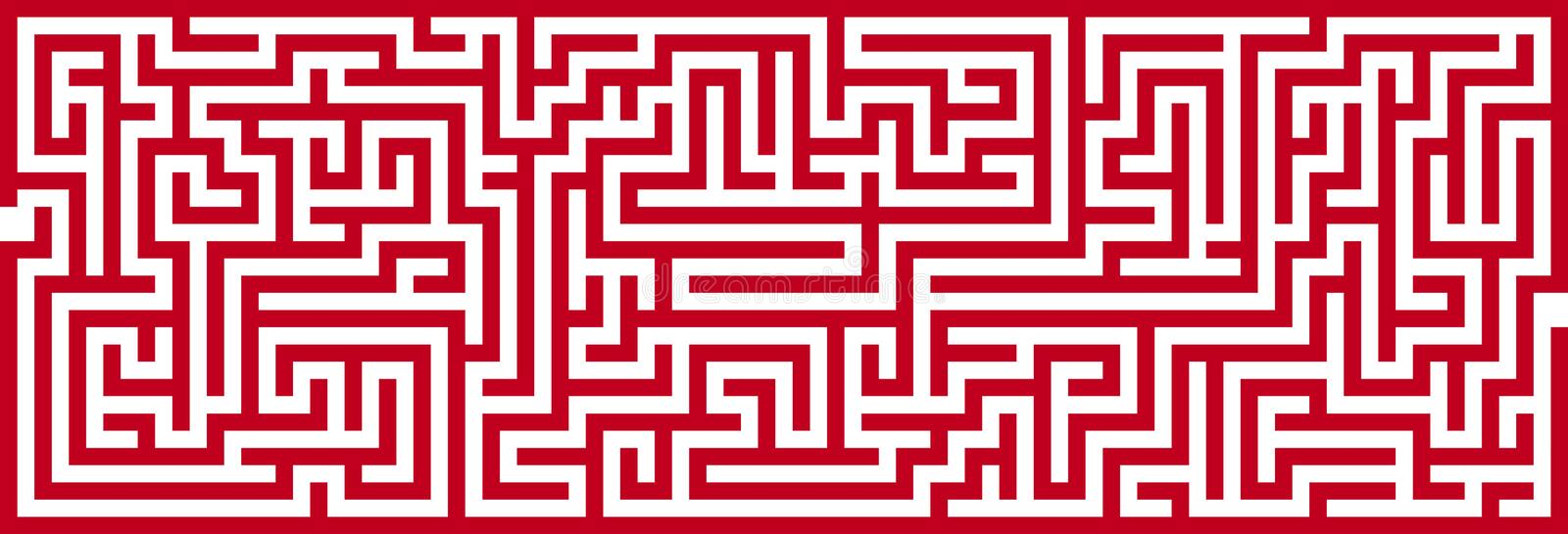 Download Simple Maze Cutout stock vector. Image of concept, labyrinth - 30197934