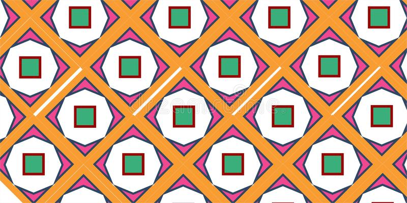 Simple pentagon squere geometrical repetitive ethnic pattern. Simple pentagon squere geometrical repetitive background pattern suitable for book cover, wallpaper vector illustration