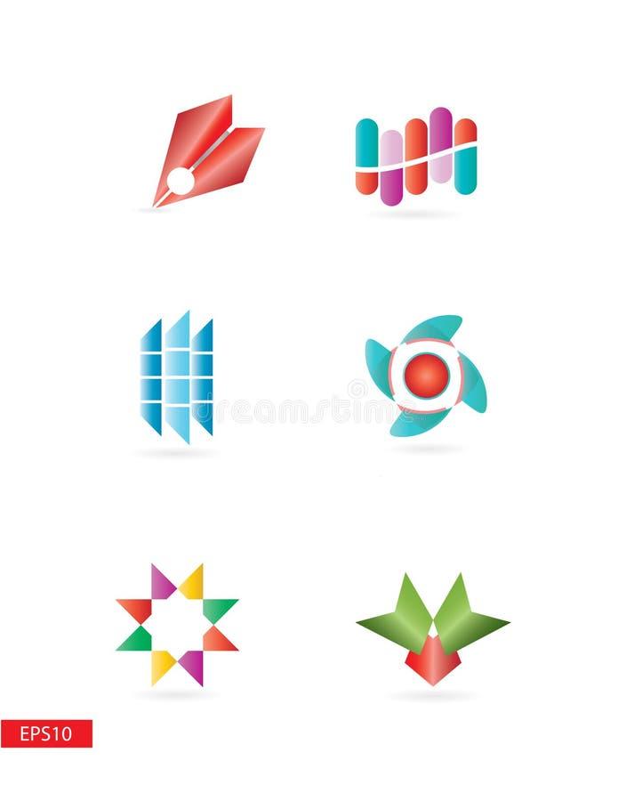 Simple pero elegante coloridos ilustración del vector