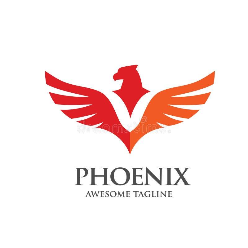 Simple phoenix logo concept. Luxury phoenix consulting element logo icon concept, eagle logo vector, hawk logo conceptn royalty free illustration