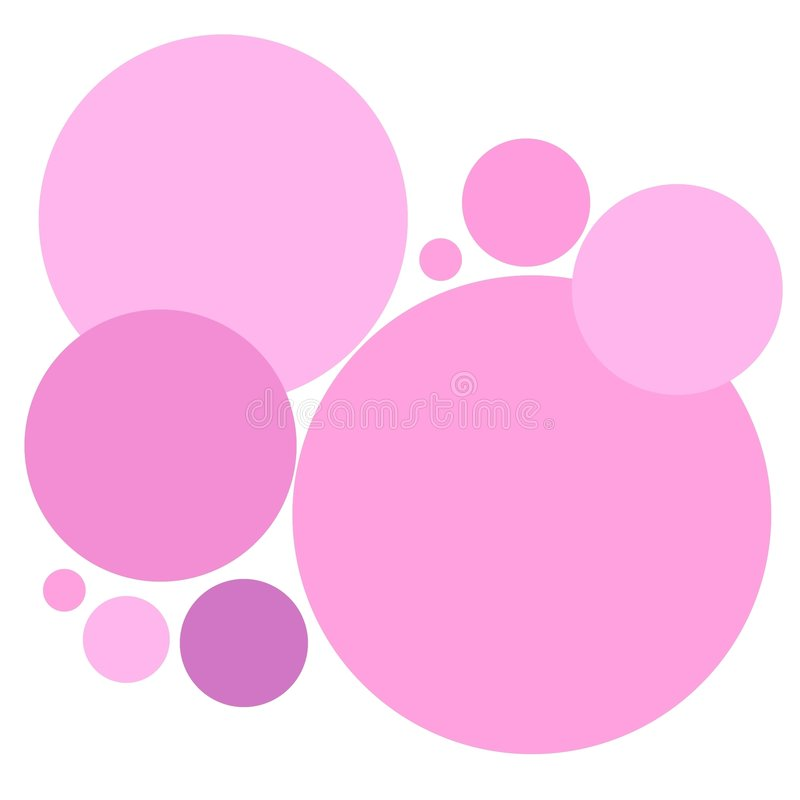 Simple Pink Circles Pattern vector illustration