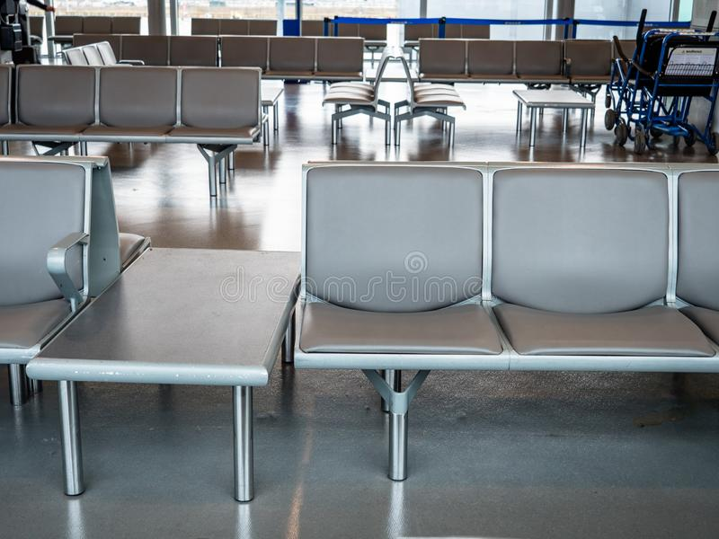 Simple Airport seating block stock photography