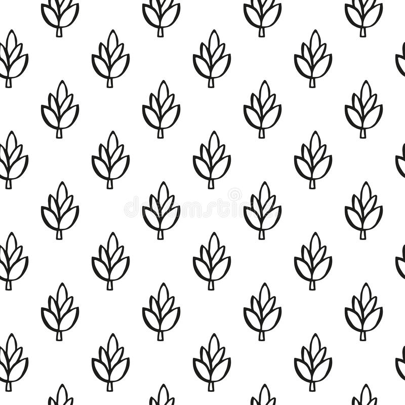 Simple plant pattern stock photography