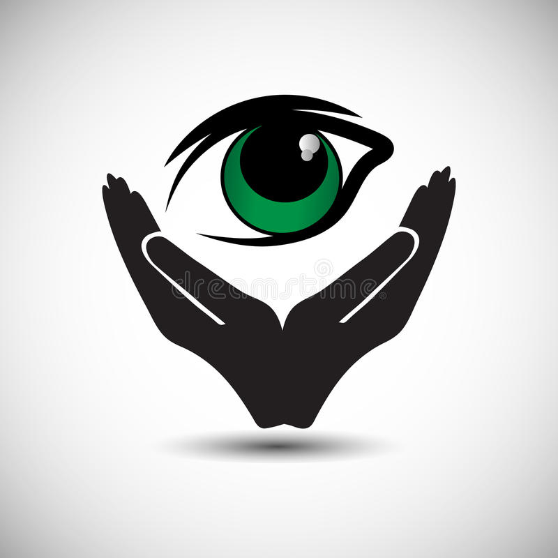 A simple pledge to donate the eyes after death and support the People to carry out the wishes of eye donation. Also Illustrates Eye Protection Or Eye Doctor vector illustration