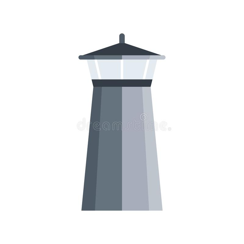 Simple print with lighthouse, boat and waves isolated on white background, marine card royalty free stock images