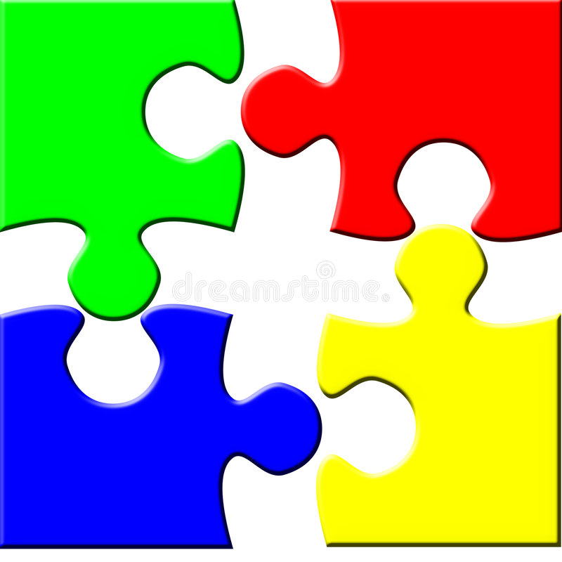 Simple puzzle vector illustration