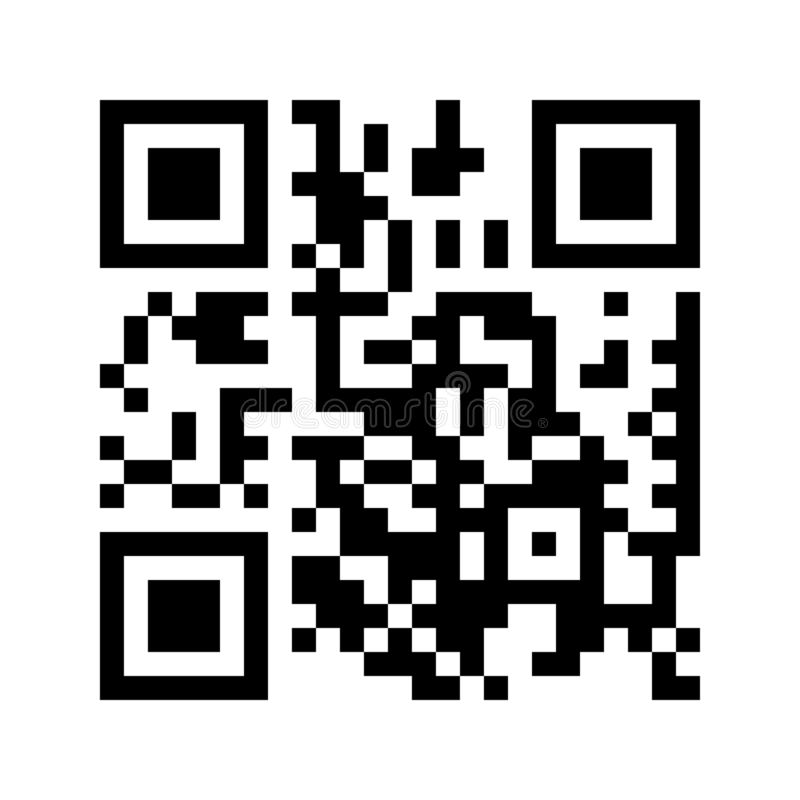 Simple QR code icon for scanning with smartphone. Flat design element for mobile app, retail, shopping. stock illustration