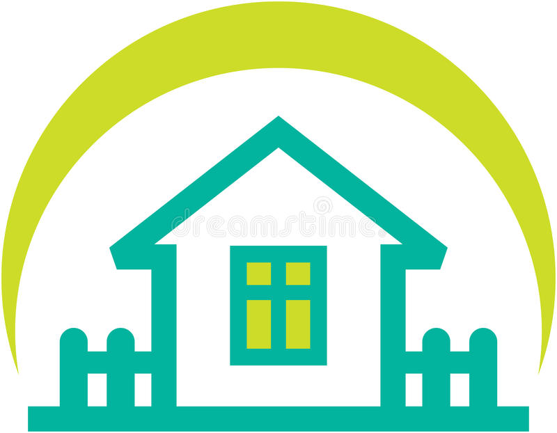 Simple real estate illustration – small house stock illustration