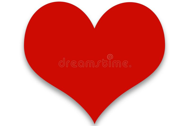 Simple Red Clipart Heart vector illustration