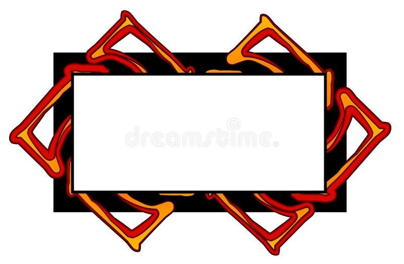 Simple rojo del negro de las insignias del Web site stock de ilustración