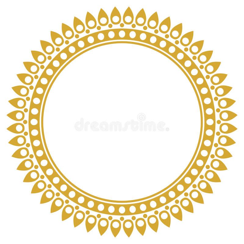 Simple round ornate frame stock vector. Illustration of color - 66736556