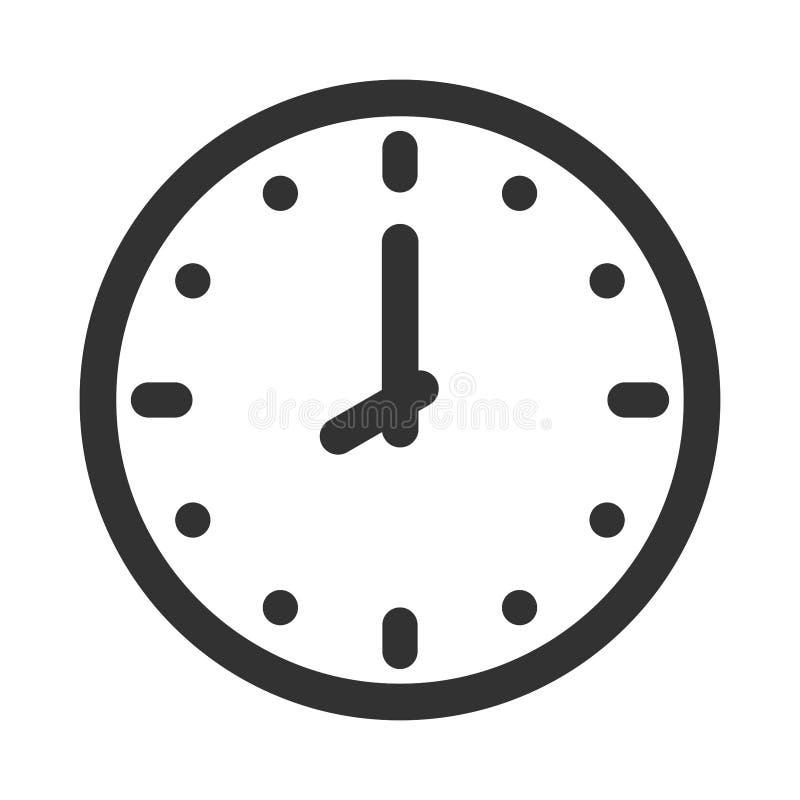 Simple round wall clock stock illustration