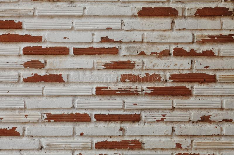 Simple rustic brick and concrete wall pattern for industrial and minimalism design royalty free stock image
