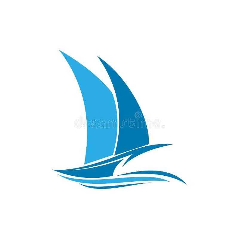 Simple Sailing Ship Voyage Journey Ocean Logo.  vector illustration