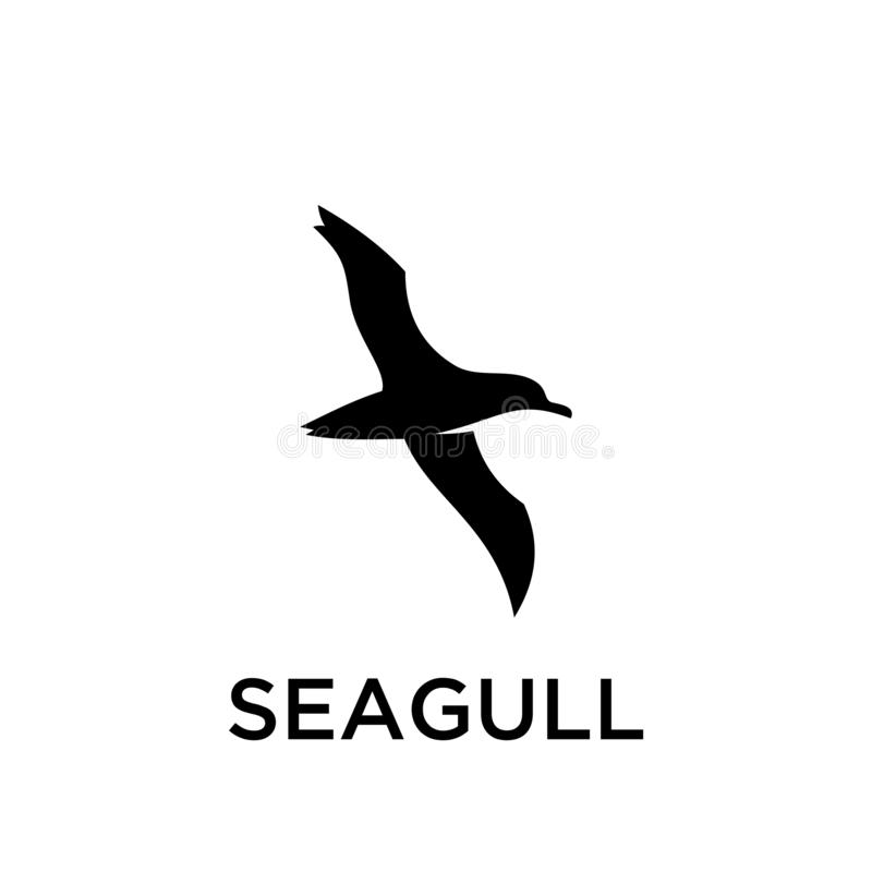 Simple seagull logo black outline line set silhouette logo icon designs vector for logo icon stamp. For tourist and adventure vector illustration