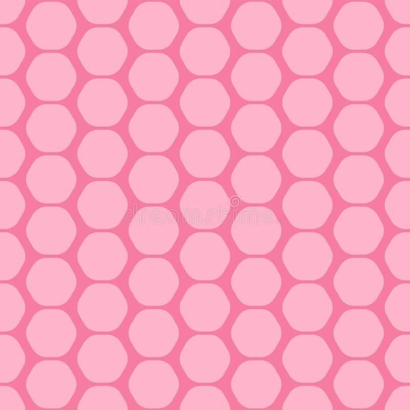 Simple seamless geometric pattern, vector decorative background, bright hexagonal texture vector illustration