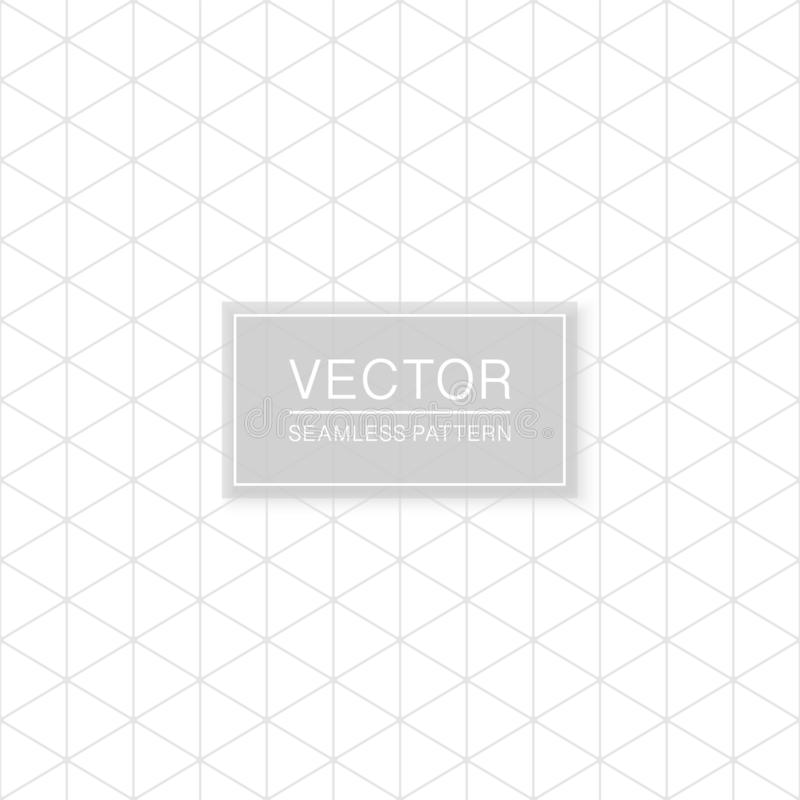 Simple seamless geometric triangle pattern - minimalistic polygonal design. Grid white and grey texture vector illustration