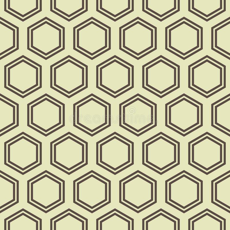 Honey Comb Pattern stock illustration