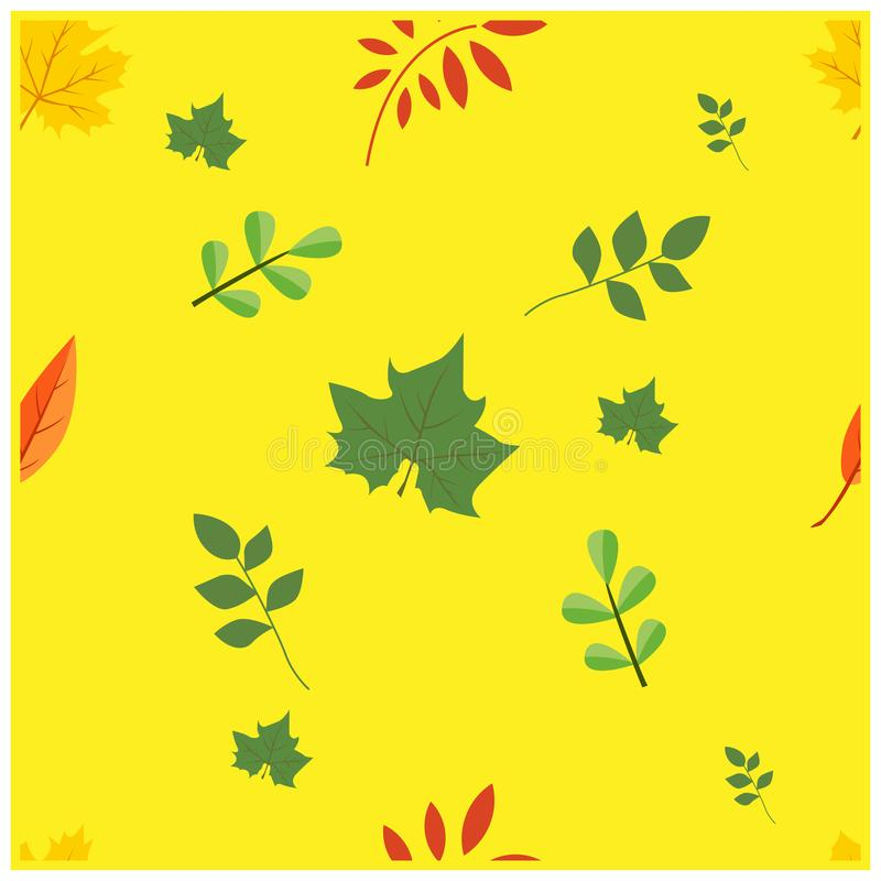 simple seamless pattern a leaf design vector royalty free stock image