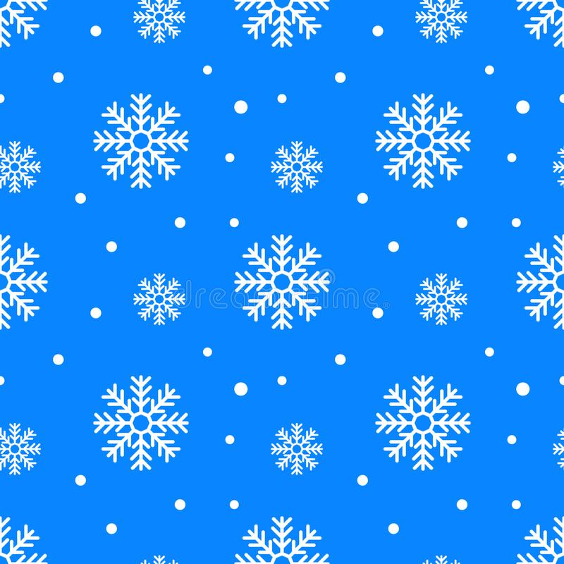 Simple seamless pattern with snowflakes. Winter endless background. Vector illustration vector illustration