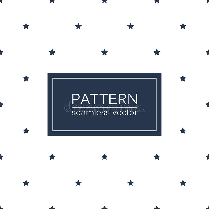 Simple seamless patterns with blue stars. Simple seamless patterns with blue stars - minimalistic background royalty free illustration