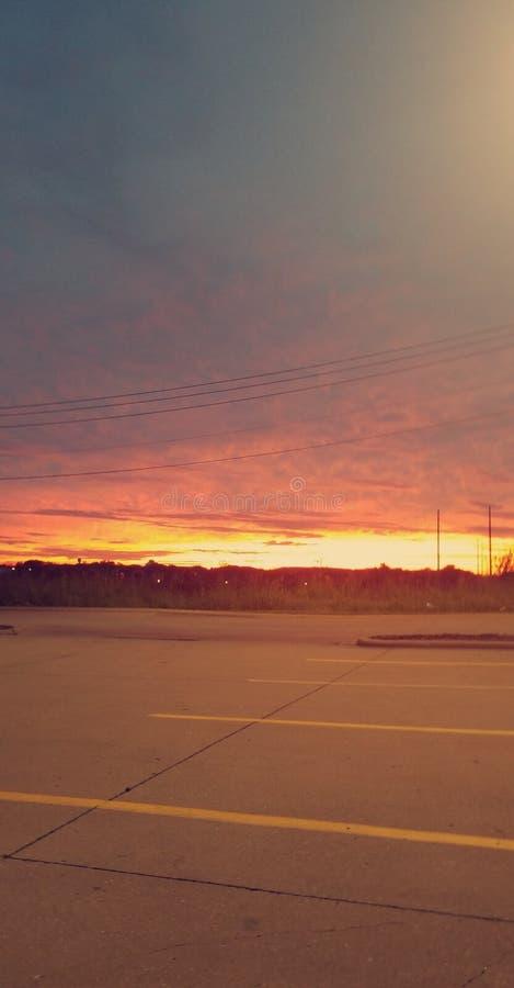 Sunset Sunday Morning. Simple Serene Sunset & x28;Orange Hew& x29 royalty free stock photography