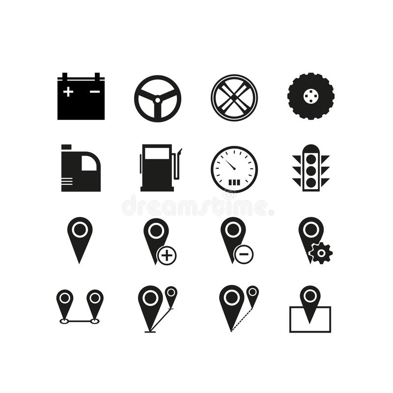Simple Set of Approve Related Vector Line Icons. Contains such Icons as road, drive, map, place and more. royalty free illustration