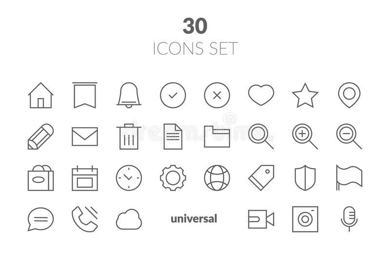 Simple Set of Basic Interface Related Color Vector Line Icons. C vector illustration