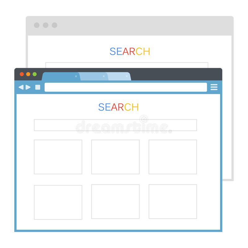 Simple set of browser window royalty free illustration
