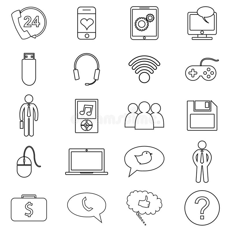 Simple Set Of Customer Relationship Management Vector Line Icon